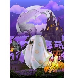 Happy Halloween invitation vector image vector image