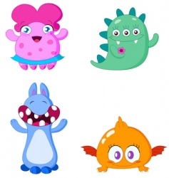 monsters vector image vector image