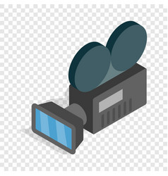 retro cinema camera isometric icon vector image