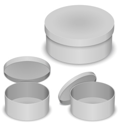 Round box template vector image
