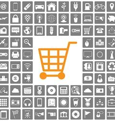 shopping icons web set vector image vector image