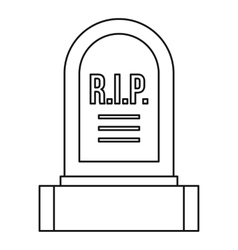 Headstone icon outline style vector