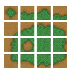 Box game level objects - land bush forest vector image vector image