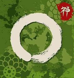 Green zen circle traditional enso vector image vector image