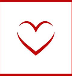 heart linear vector image