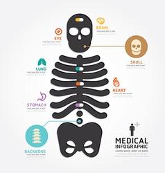 infographics medical skull bone design diagram vector image vector image