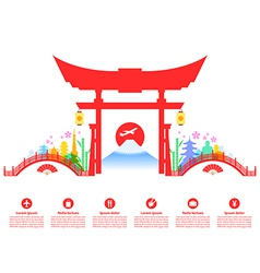 Japan Travel Landmarks vector image