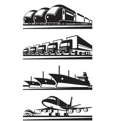 Large cargo transportation vector image
