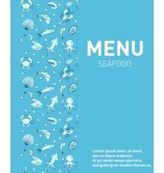 Sea food restaurant menu Seafood template design vector image