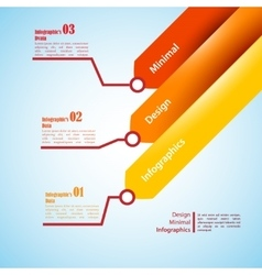 Three arrows use for infographics vector image