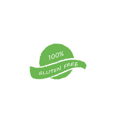 100 gluten free food label vector