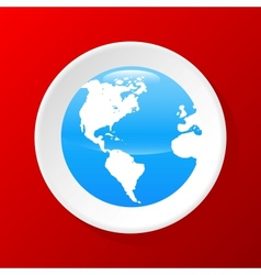 3d Globe icon vector image