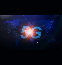 5g new generation networks high-speed internet vector image