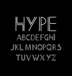 abstract font and alphabet vector image