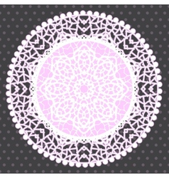 Background with ornamental round lace pattern vector