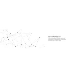 banner design global connection with lines vector image
