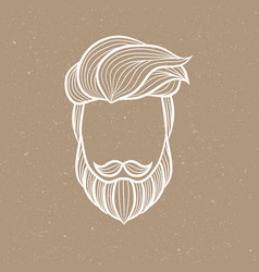 beard man logo element vector image