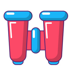 binoculars explorer icon cartoon style vector image