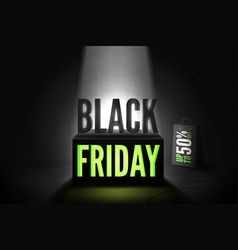 black friday 50 percent offer banner vector image