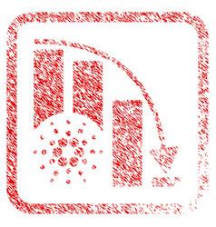 Cardano epic fail chart framed stamp vector