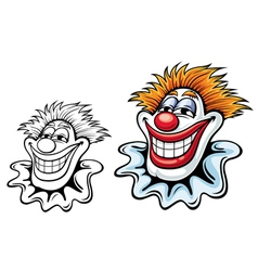 Cartoon circus clown vector image
