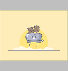 cartoon toaster image vector image