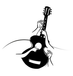 Classical acoustic guitar vector