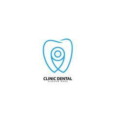 Clinic dental logo design inspiration vector