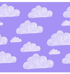 cloud purple vector image