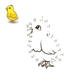 Connect dots game chicken vector