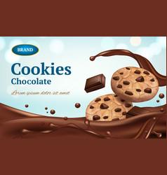 cookies advertizing healthy delicious food vector image