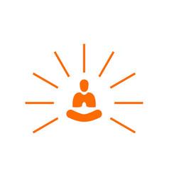 creative abstract simple light yoga meditation vector image