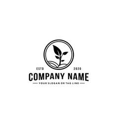 Creative farming logo vector