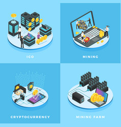 Cryptocurrency electronic money vector