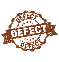 Defect stamp sign seal vector