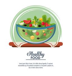 delicious salad healthy food vector image