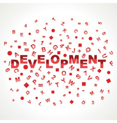 Development word with in alphabets vector
