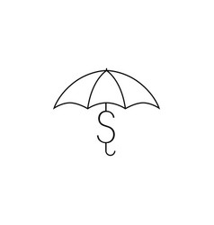 dollar money protector security umbrella logo icon vector image