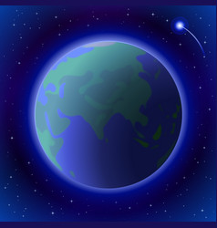 earth in space vector image