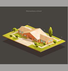 elementary school isometric vector image