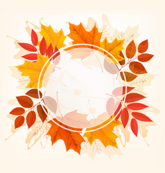 Fall autumn colorful leaves background vector