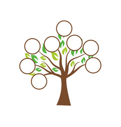 Family tree template design vector