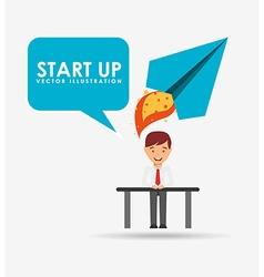 Financial start up vector