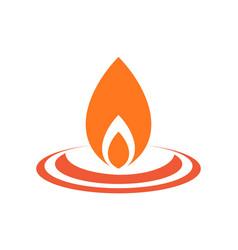 fire logo icon concept design vector image