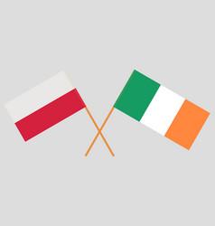Flags poland and ireland vector