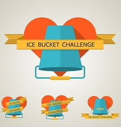 Flat concept for Ice Bucket Challenge vector image