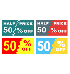 Four advertisements leaflets flyers sale sticker vector