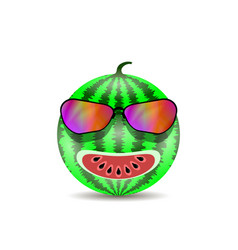 fresh sweet natural ripe watermelon icon with vector image