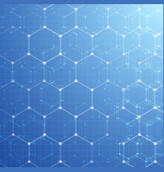 Geometric pattern with hexagons vector