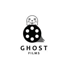 ghost film logo design template creative logo vector image